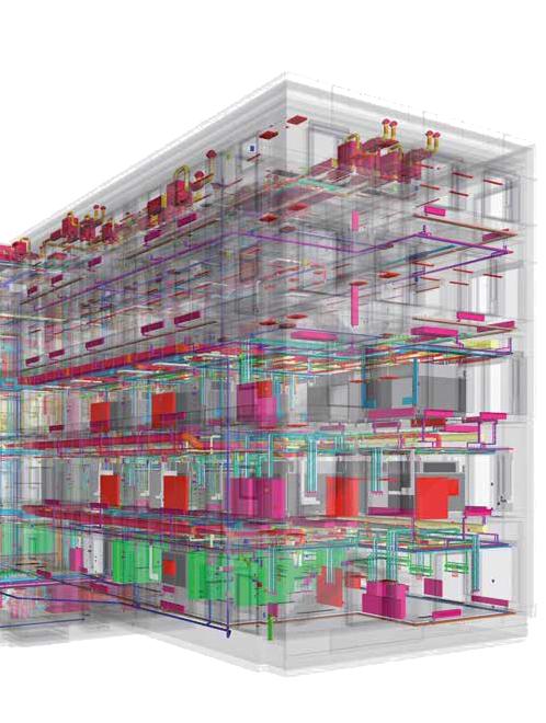 Technisches Innenleben eines Gebäudes